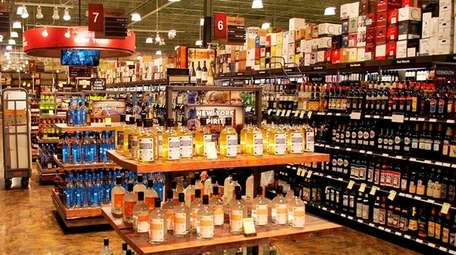 The New York state section of Total Wine,