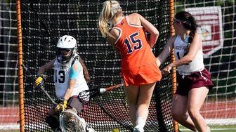 ManhassetÕs Grace Gatley (15) scores an unassisted goal