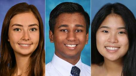 Meghan Flaugher, Adithya Krishnan and Cecily Phua are