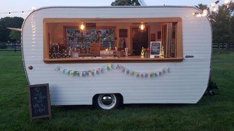 Lisa Hockney's vintage cocktail camper is available for