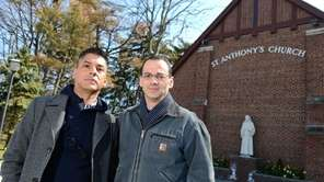 Nicholas Coppola, right, stands with spouse David Crespo,