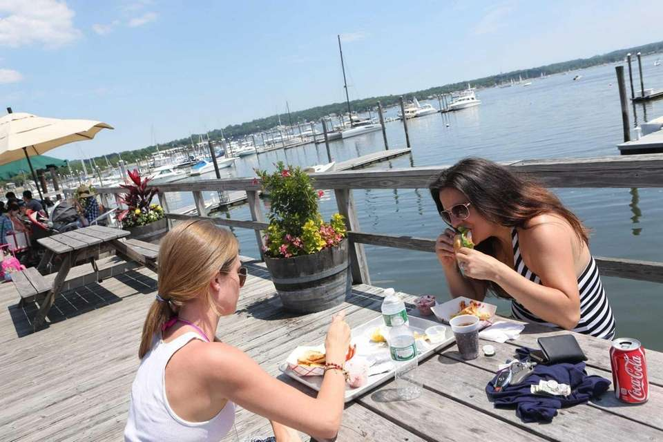 Diners at Butler's Flat in Port Washington.