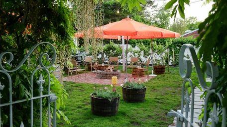 The backyard garden of Il Giardino in Aquebogue.