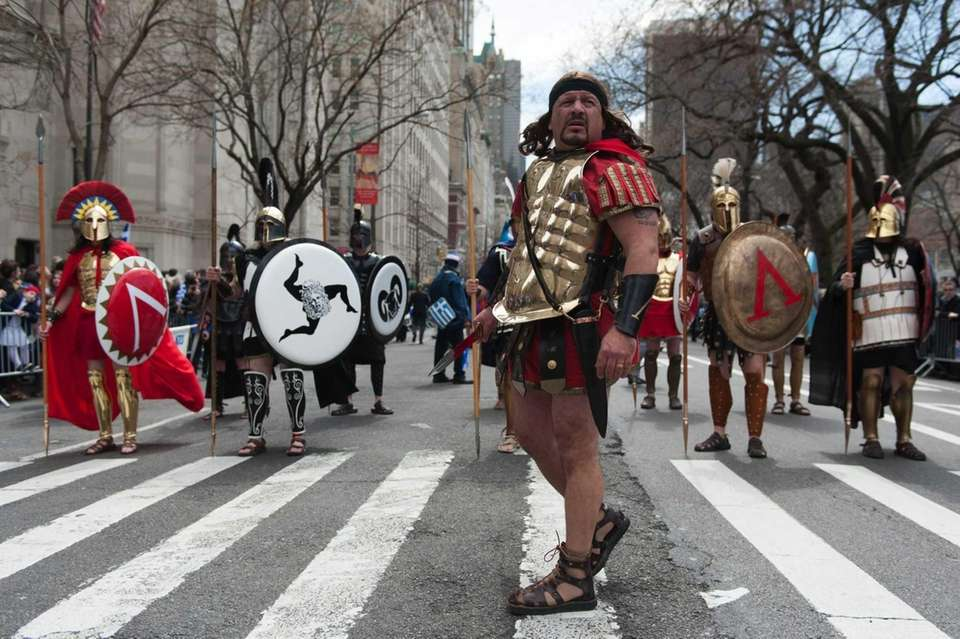 The Greek Warriors march in the Greek Independence