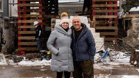 Architect Carolina Bassal and her husband, Arash Merabi,