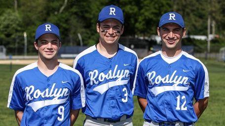 Roslyn baseball players, left to right, Daniel Rosman,