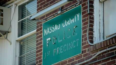 An old sign attached to the building that