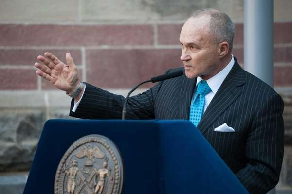 NYPD Commissioner Ray Kelly speaks during a press