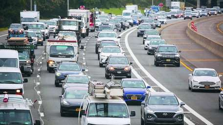 Traffic on the Long Island Expressway in September.