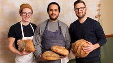 Left to right: Ren Crook, baker, Carlos Barbosa,