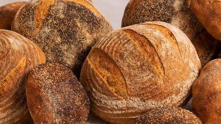 Assorted sourdough breads from Newlight Breadworks.
