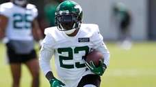 Jets running back Tevin Coleman (23) during Jets