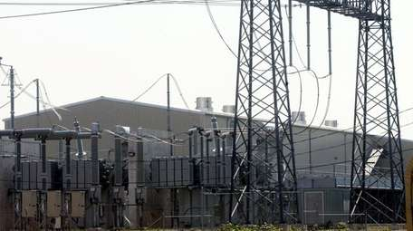 Transmission lines are seen at a terminal of