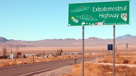 Highway 375 in Rachel, Nev., near Area 51,