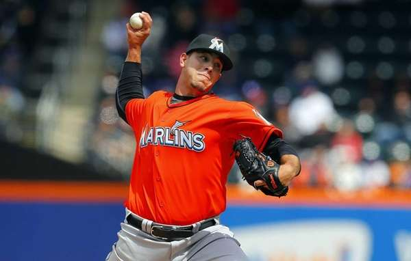 Jose Fernandez of the Miami Marlins delivers a