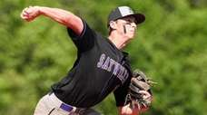 Jack Cheshire of Sayville throws from the mound