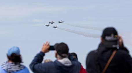 The U.S. Air Force Thunderbirds in the sky
