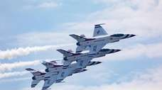 The U.S. Air Force Thunderbirds take to the