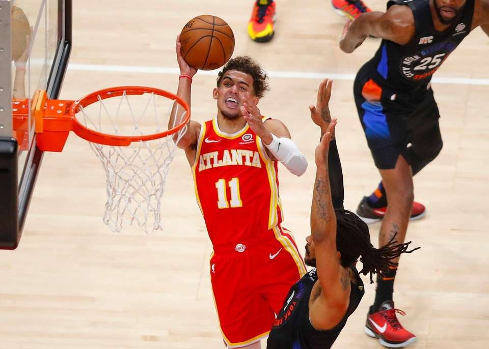 Trae Young  had 21 points and 14