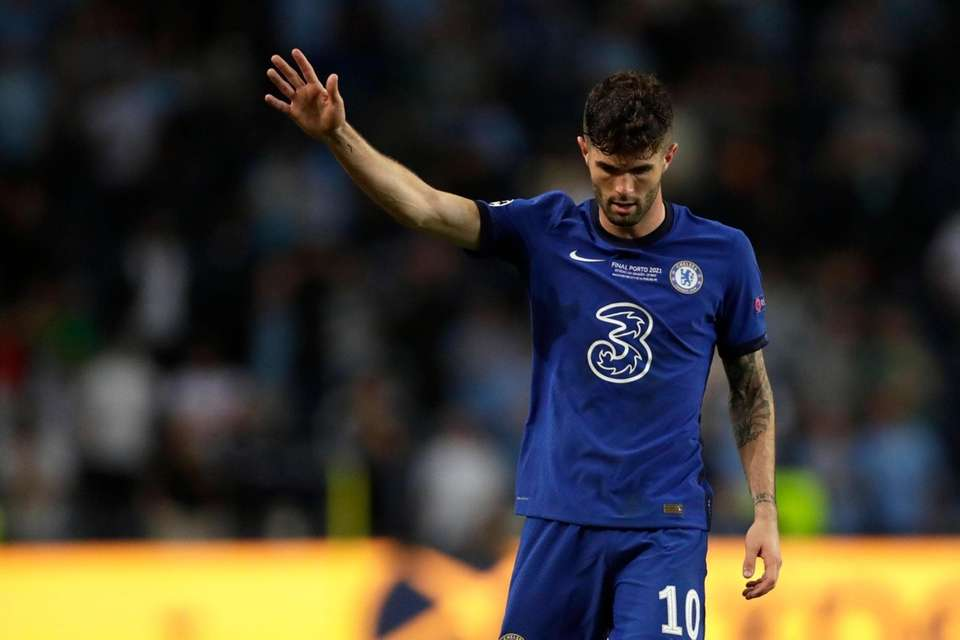 Chelsea's Christian Pulisic gestures during the Champions League