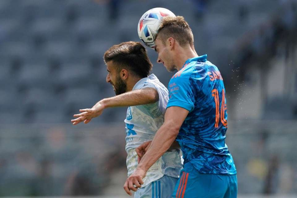 Los Angeles FC forward Diego Rossi, left, and