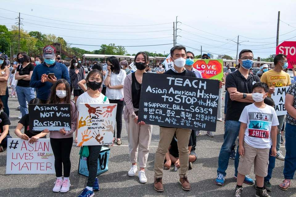 Stop Asian hate rally in Syosset after school
