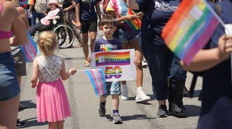 Participants in the Long Island pride parade in