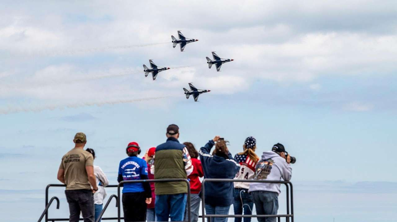 The Bethpage Air Show returned Monday at Jones