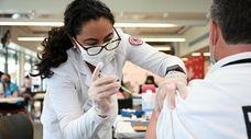 Ana Quintanilla, a nursing student at Molloy College,