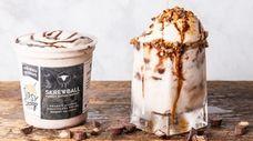 Tipsy Scoop's Skrewball peanut butter whiskey ice cream.