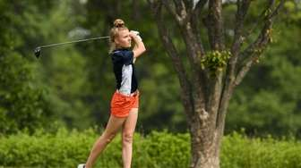 Kaitlin Donopria of St. AnthonyÕs watches her drive