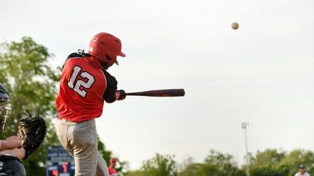 Adrian Marine connects for a three-run home run