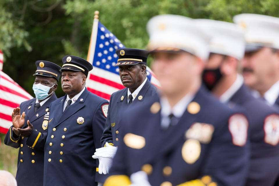 Members of the Gordon Heights Fire Department look