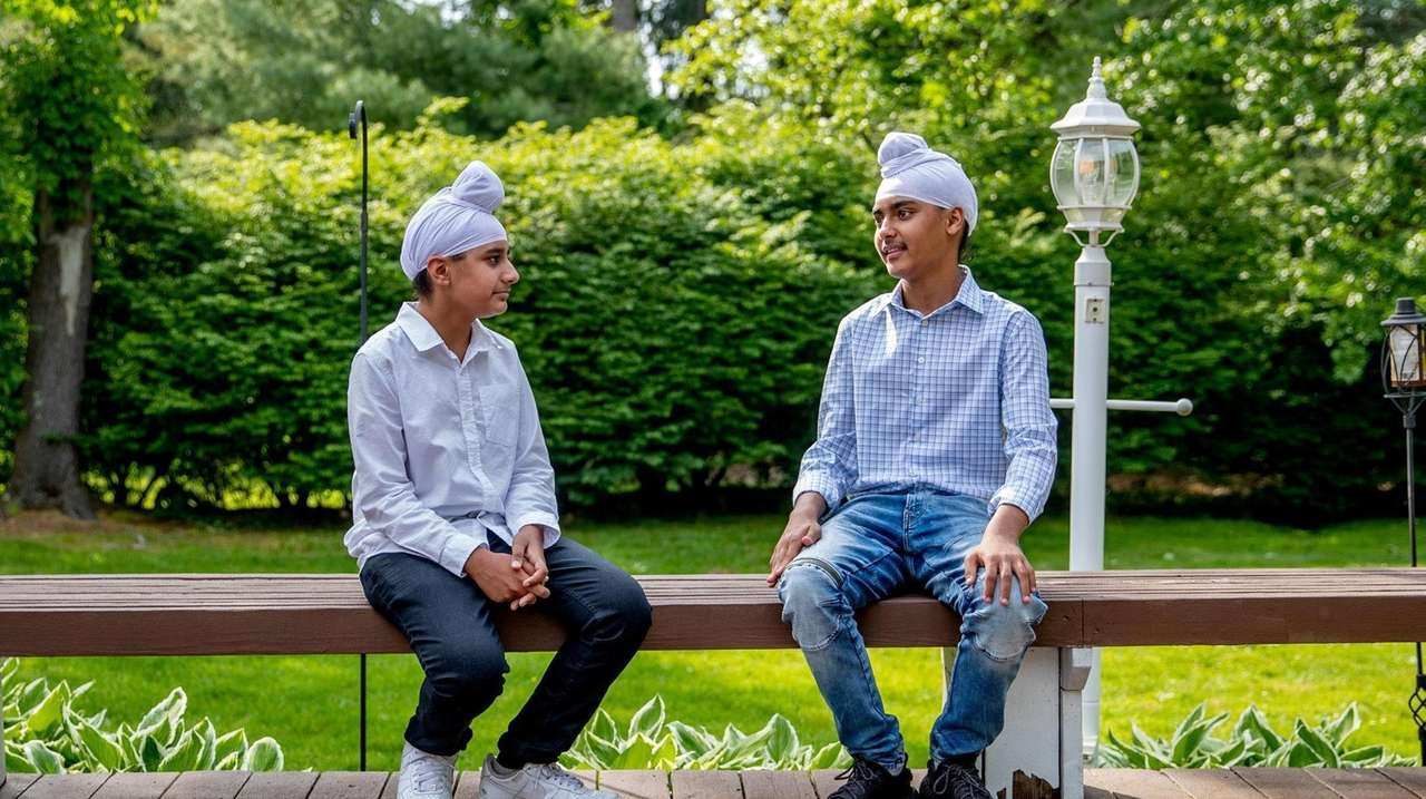 Two 13-year-old Sikh boys described how they were