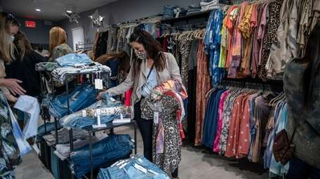 Kristina Bufano shops during a private shopping party