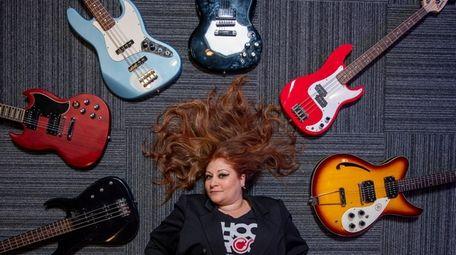 Monica Rubin of School of Rock with two