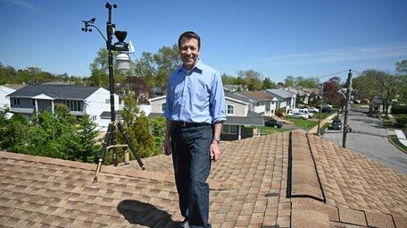 Craig Allen's roof at his Merrick home is
