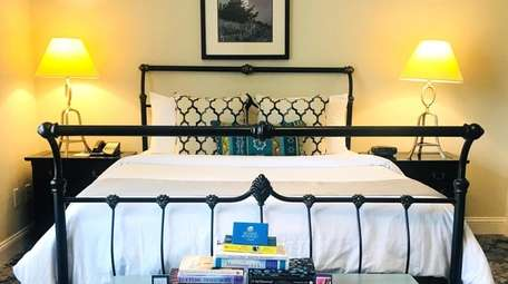 A guest room at the Southampton Inn, located