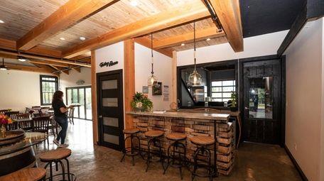 Sannino Vineyard's winery and tasting room in Cutchogue.