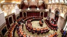 View of the New York state Senate Chamber