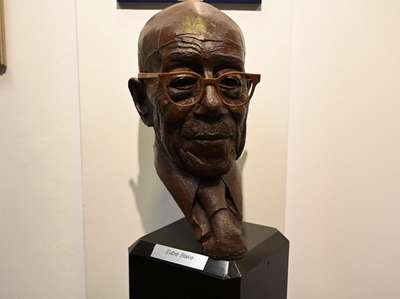A bust of Eubie Blake at the museum.