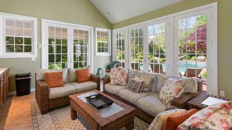 The house was recently renovated, with new windows,