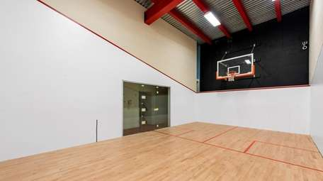 The house has an indoor basketball court.