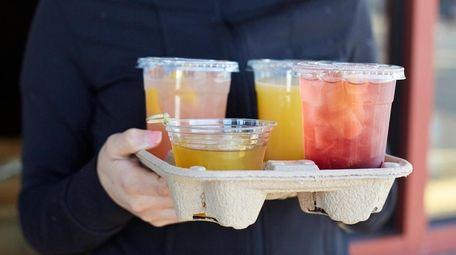 Assorted cocktails to-go at Salumi in Massapequa.