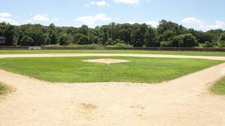 An empty baseball field.