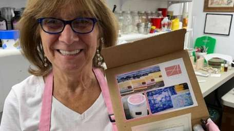 Angela Carillo, owner of Alegna Soap in Bethpage,