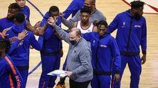 Knicks head coach Tom Thibodeau got everyone on