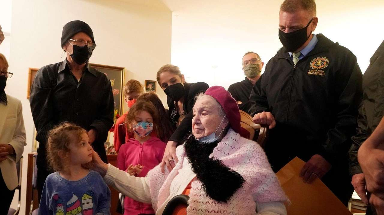 Family, friends and town officials gathered to celebratethe