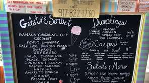 The food for sale at new eatery Opties