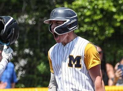 Massapequa's Vincent Mallon (right) is created at home